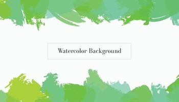 green watercolor abstract background design template vector
