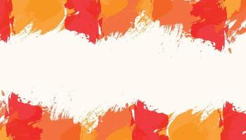 Modern orange abstract watercolor background design template vector