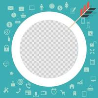 Target Icon Image, Sign. Circle vector