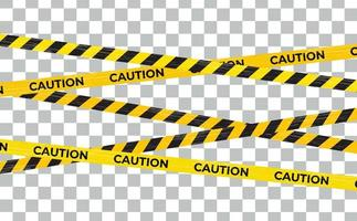 Caution Warning lines, Danger signs isolated vector