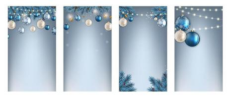 Christmas Hilidat Background for Instagram Stories Post Set. vector