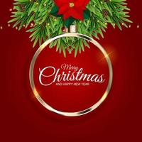 Holiday New Year and Merry Christmas Background vector