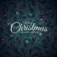 Holiday New Year and Merry Christmas Background. vector