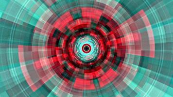 volo luci digitali rosse raggi al neon in movimento tunnel tecnologici digitali video