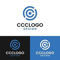 Initial Letter CCC Circle Simple Logo Design Template vector
