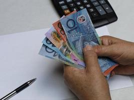 Photography for economics and finance themes with australian money photo