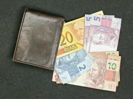 Economy and finance with brazilian money photo
