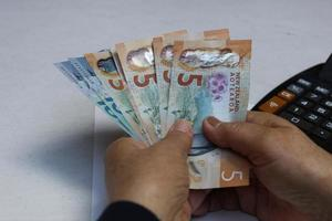 Photography for economics and finance themes with New Zealand money photo