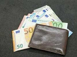 Economy and finance with european money photo