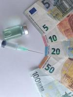 Investment in health care and vaccination system in Europe photo