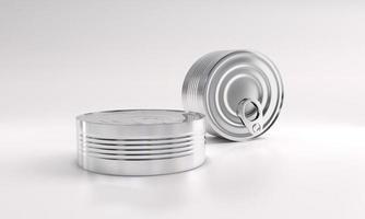 paquete de lata de comida de metal foto