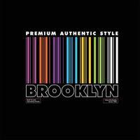 premium authentic style brooklyn simple vintage vector