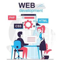 Web development isolated cartoon concept. vector