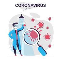 Coronavirus isolated cartoon concept. vector