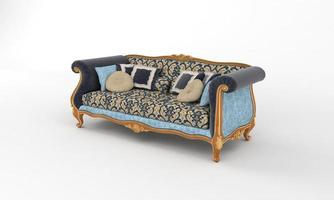 sofá vista muebles renderizado 3d foto