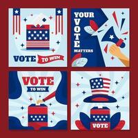 tarjetas de votación de las elecciones generales de EE. UU. vector