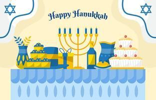Happy Hanukkah Day Concept vector