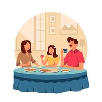 Family Gathering at Home vector