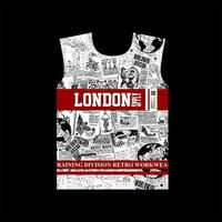 london supply retro pattern tshirt design vector