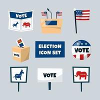 US Election Icon Set vector