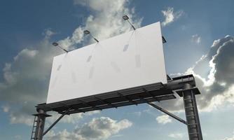 Billboard Sign 3D Rendered Illustration photo