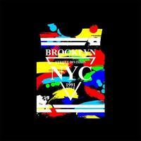 nyc brooklyn street style tshirt design vector