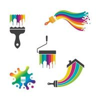 Paint Logo Template vector icon