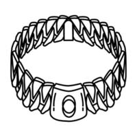 Dog Chain Collar Icon. Doodle Hand Drawn or Outline Icon Style vector
