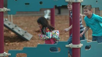 Kids running at playground in slow motion shot on Phantom Flex 4K at 500 fps video