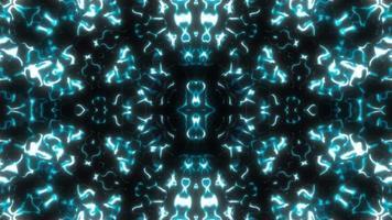 Fondo dinámico hipnótico caleidoscópico de luz azul claro. video