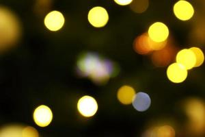 Long exposure blurred yellow and blue christmas tree lights abstract background photo