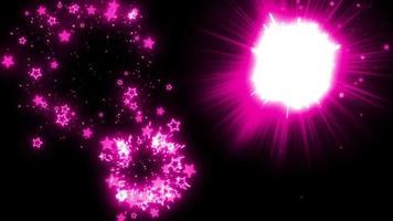 rosa stjärna partikel fyrverkerier bakgrund loop animation video