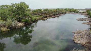 vista aérea del lago video