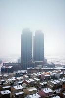 nieve, condiciones frías del invierno y ankara, la capital de turquía foto