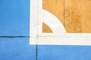 Cancha de futbal estadio deportivo cubierto con marca, línea blanca en el estadio. foto