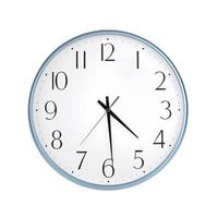 las cuatro y media en el gran reloj foto