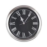 las once y cinco en el reloj foto