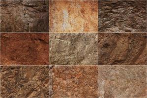 superficies de piedra de diferentes texturas foto