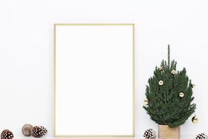 maqueta de marco de navidad-301 foto