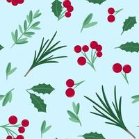 Christmas and New Year pattern for gift wrapping paper wallpaper and fabric vector