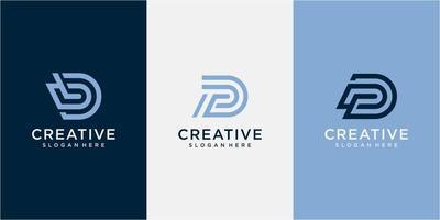 Creative Professional Trendy Letter DP PD Logo Design. Monogram Initial dp typography logo design inspiration vector