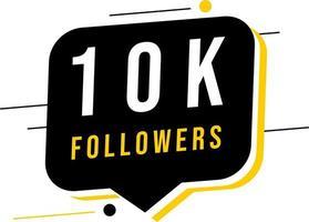 Thank you 10K social media followers template vector
