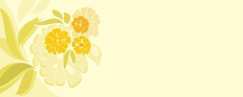 beautiful flower banner background vector