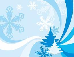 Christmas celebration blue background vector