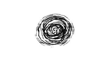 animerad svart pensel bakgrund video