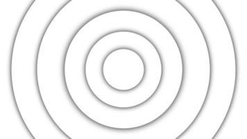 abstract patroon van cirkels met het effect van verplaatsing. radiogolven in cirkelvorm. naadloze lus. video