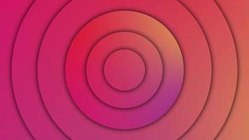 padrão abstrato de círculos com o efeito de deslocamento. ondas de rádio em forma de círculo. loop sem costura. video