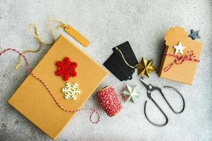 Christmas frame concept photo