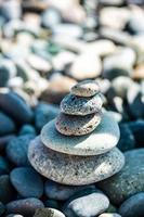 piedras de playa como fondo foto