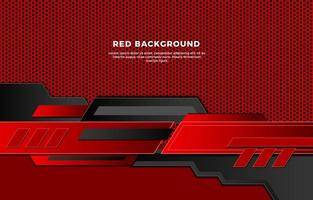 Red Metal Mesh With Unique Modern Shapes Background vector